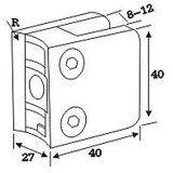 ステンレス鋼は手すりシステム(CR-052)のためのダイカストのガラスクランプを