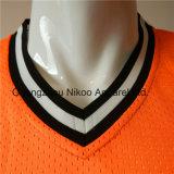 Malla de poliéster personalizado de calidad Jersey camiseta con abordar los parches de sarga