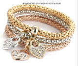 Pulsera del encanto del brazalete de la manera de las dimensiones de una variable de Diamante del estilo de las palomitas de Aloy varia