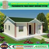 Casa de marco prefabricada prefabricada de acero del panel de emparedado del cemento EPS de Fome