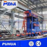 Tubo de acero Granallado Precio de la máquina con sistema de recuperación automática