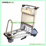 空港アルミニウム手荷物のトロリー手荷物のカート