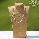 Paper Weaving Twine Wooden Necklace Display Bust for Jewelry Store Decoration