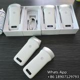 iPhone do iPad do telemóvel que lig o sistema sem fio do ultra-som