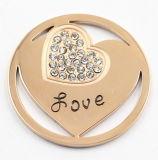 Het roestvrij staal hoort Muntstuk voor de Juwelen van de Gift van de Dag van de Valentijnskaart