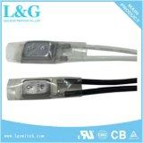 자동 재시동 Low Resistance Protector 17ami Temperature Control Switch Normally Closed Temperature Fuse 10A250VAC