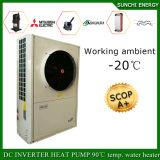 la pompe à chaleur fendue d'Evi -25c de l'hiver de 12kw/19kw/35kw d'étage du chauffage 100~350sq de mètre de salle 380V de prise froide de pouvoir jeûnent installation