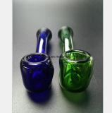 Blaues, grünes Rohr-Glaswasser-Rohr-Filter-Tabak-Wiederverwertung