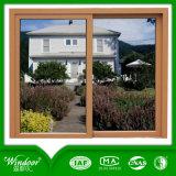 Деревянное напечатанное окно PVC сползая с европейским стандартом