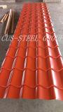 Feuille en acier colorée de toiture de la toiture Plate/PPGI en métal