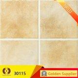 Azulejo de suelo de cerámica esmaltado color amarillo (30115)