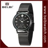 Montre-bracelet imperméable à l'eau d'acier de femmes de batterie de quartz d'affaires de mode de Belbi