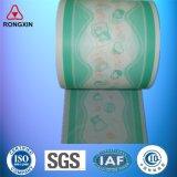 Película impresa Backsheet del PE de la materia prima del pañal