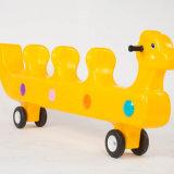 Parc d'amusement ride ressort en plastique pour les enfants Animal printemps Rider joyeux aller autour de jouets