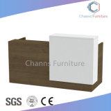 Venda por grosso de mobiliário de madeira Contador Reta Moderna Recepção (CAS-RD601)