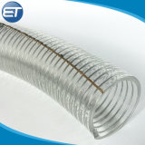 Espiral de PVC reforzado con alambre de acero / Manguera del tubo de PVC transparente