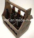 Sechs Satz-Flaschen-Transportgestelltote-Halter mit angebrachtem Flaschen-Öffner