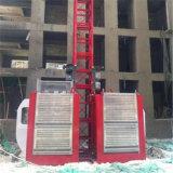 Gabbia di sollevamento della gru di Elecator della doppia costruzione della gabbia dello SGS 2t del Ce