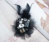 Fashion Handmade teñido de sombreros de plumas de Chiffon artesanía decorativa flor