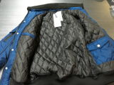 Quilted Linningの毛皮Collar Men Bomber Jacket