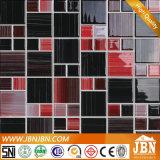 그리기 벽과 지면 (G455009)를 위한 까맣고와 빨강 유리제 모자이크를