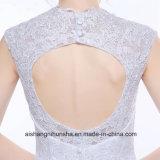 Vestito da cerimonia nuziale della sirena con l'abito di cerimonia nuziale Backless del merletto di Applique del V-Collo
