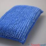 Éponge détaillante de lavage de véhicule bleu de Microfiber