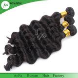 100%年のバージンのブラジルのRemyの人間の毛髪(緩い波)のよこ糸
