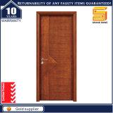 PVC laminado de madera maciza puerta de vidrio interior personalizado