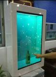 Machine de publicité transparente de 55 pouces