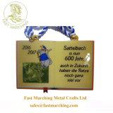 Premio Cartoon personalizado cintas de impresión de fútbol para niños medallas para los deportes