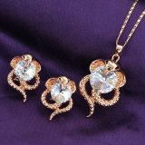 Jogo de cristal da colar do espaço livre modelo o mais atrasado luxuoso da serpente da jóia da forma das mulheres