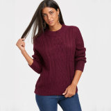 Häkelarbeit-Pullover-Strickjacke-Spott-Stutzen-Großverkauf der Frauen Überformat