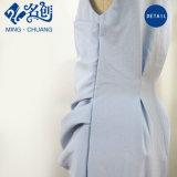 Hellblaues dünnes reizvolles Sleeveless Form-Dame-Kleid mit Taille-Säumen
