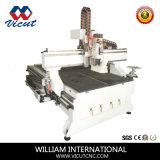Centro do CNC da gravura de madeira com o auto cambiador da ferramenta