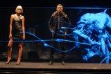 Hologram Stage Reflection Foil para desfile de moda