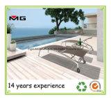 Mobilier de plage en bordure de piscine de plein air réglable de chaises longues Armless