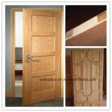 Interior da madeira contínua/porta de madeira da prova de incêndio porta de entrada com 2 horas