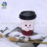 кофейные чашки бумаги стены изготовленный на заказ логоса 8oz 12oz 16oz устранимые двойные с крышками