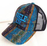 Kundenspezifischer Freizeit-Baumwollhysteresen-Schutzkappen-Hut der Stickerei-3D