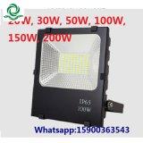 Resistente al agua IP65 30W 50W 100W Reflector LED SMD