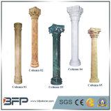 Colunas romanas de pedras calcárias de mármore natural de granito natural