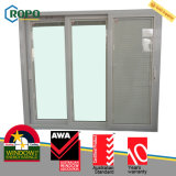 UPVC / PVC empilhador de vinil porta deslizante de vidro para pátio com cortinas