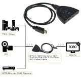 1080P 3X1 HDMI Rangierlok mit kurzem HDMI Kabel