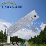 18W de luz de calle solar integrada con panel solar