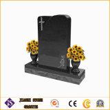 Headstone del vaso di fiore/monumento e granito nero