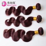 深の高品質の未加工モンゴルのバージンの毛の拡張波の自然で赤い人間の毛髪の織り方