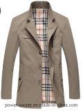 최상 남자의 Spring/Autumn 고전적인 방풍 우연한 재킷