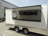 De bevroren Vrachtwagen van het Voedsel van de Maker van Roti van de Koffie van de Catering Donuts Bradende