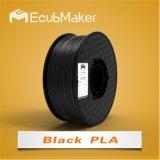 Профессиональные производители Ecubmaker 1,75 мм 1000g 3D PLA нити черного цвета